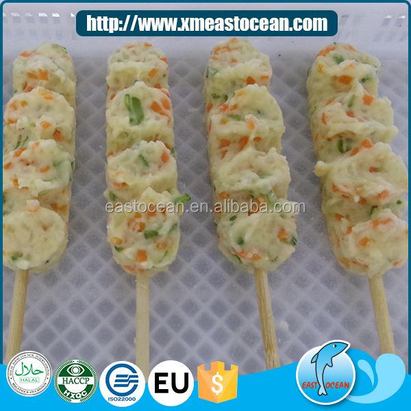 2017 High quality Japan fried squid&vegetable surimi cake halal frozen food