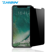 Accurate touch anti-glare privacy mirror tempered glass film for iphone X screen protector