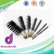 custom steel wire nylon bristle drill metal polishing tube brush for industry