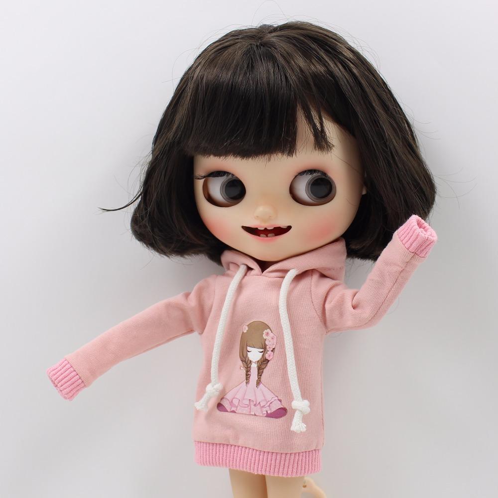 Neo Blythe Doll Light Pink Dress With Hat 2