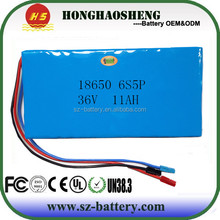 Good safety 36v lithium ion battery pack for ebike 18650 11ah