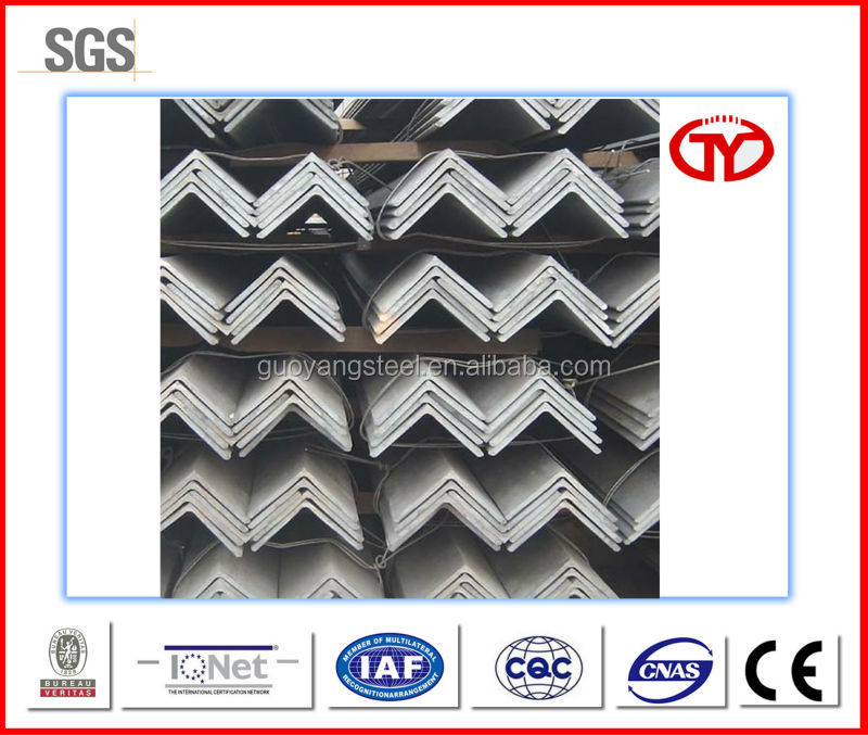 Q195 to Q420 series steel equal angle bar