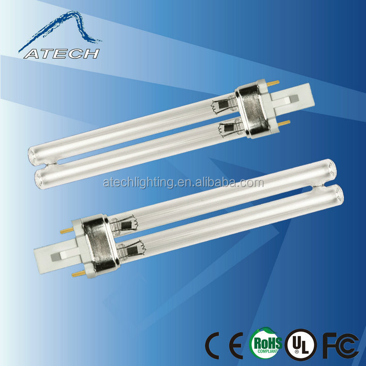 PLS 5W 7W 9W 11W 13W Boron or Quartz Glass 254nm UVC Germicidal Lamp For Sterilizing