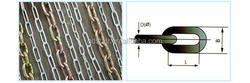Lock Chain:din763 Long Link Chain With Pvc Blue Thick Film