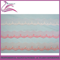 China manufacture 25mm embroidery border lace trim