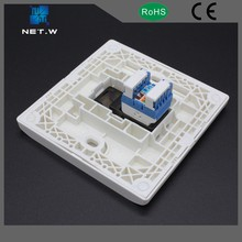 With PVC, ABS cable materials double ports face plate