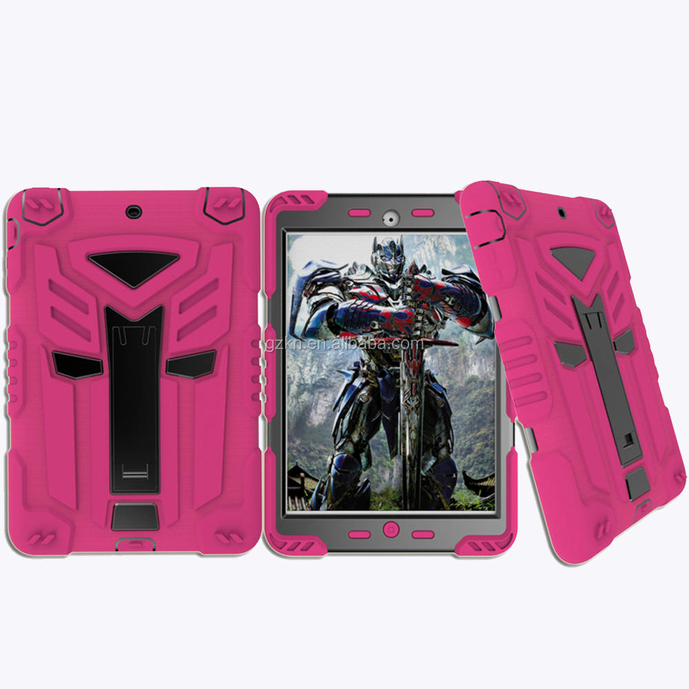 Shockproof transformer hybrid rubber armor case for iPad mini 2 3 super cool robot cover