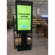 42 inch floor standing digital photo frame LCD display led tv touch screen kiosk