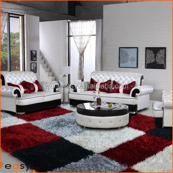 Hot sale box shape hand made polyester shaggy carpet and rugs