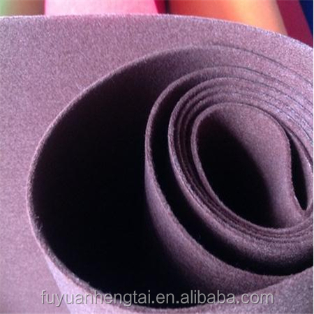 Nonwoven industrial polyester felt and wool felt fabric