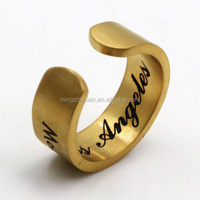 Custom initial rings of monogram rings and engraved ring