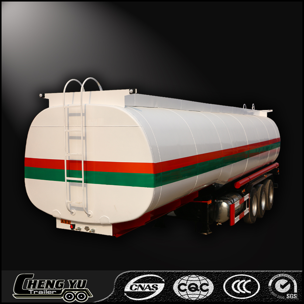 China transport highly flameable liquids petrol, crude oil, fuel tank trailer