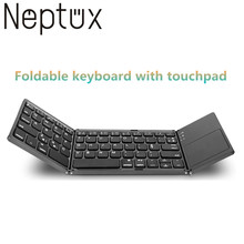 Portable folding wireless bluetooth keyboard With Mouse Touchpad For Android Samsung Laptop