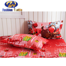 Red Printed Quilted Wedding Comforter Set Luxury Bedding