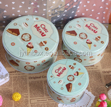 Chinese supply Christmas gift cookie tin box promotional round tin box