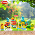 Hot Sale Educational Toys For Kids 62pcs Wooden Puzzle English Animal Alphabet Toys Building Blocks