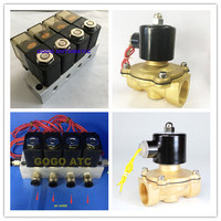 3 Way 2 Ports Coil Flow Control Air Compressor Solenoid Valve with 25mm Orifice 24VDC