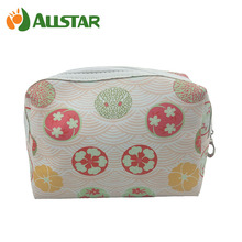 PU material cosmetic pouch lady bag with polyester lining