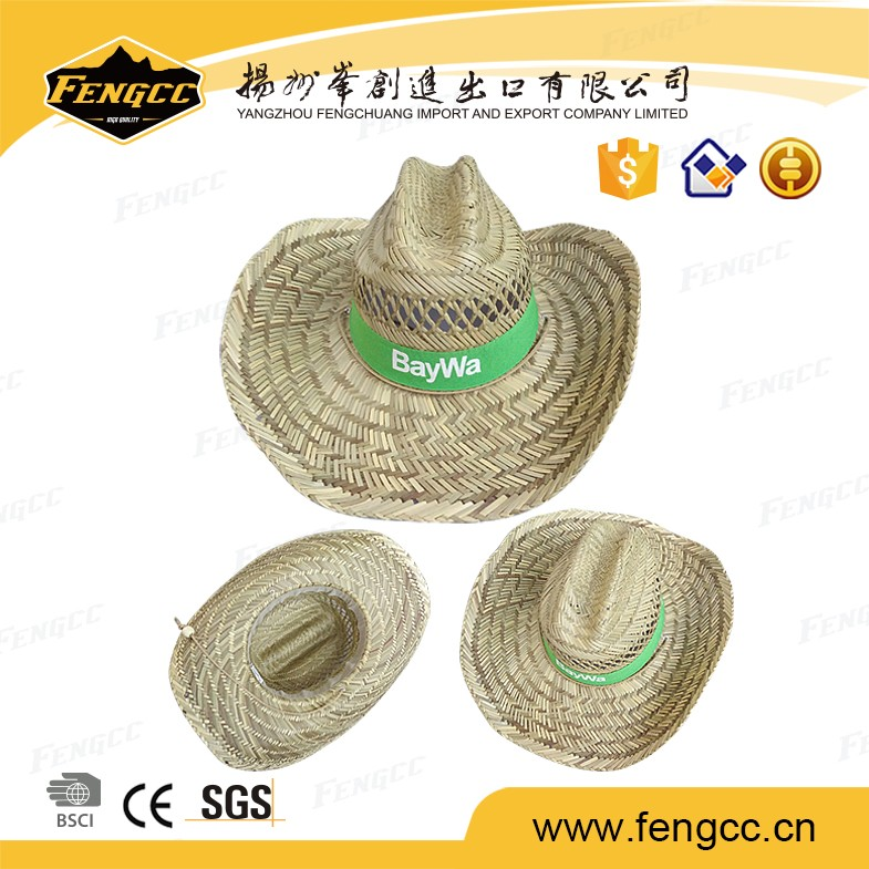 Chinese factory supply beach promotional floppy 100% dark straw hat