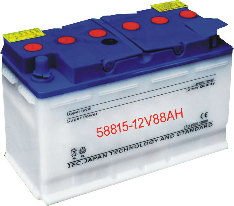 Premium German Standard DIN58815 Dry Charged 12V 88Ah Car Battery for sale