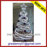 China wholesale art minds giant white led lighted up christmas tree with star topper