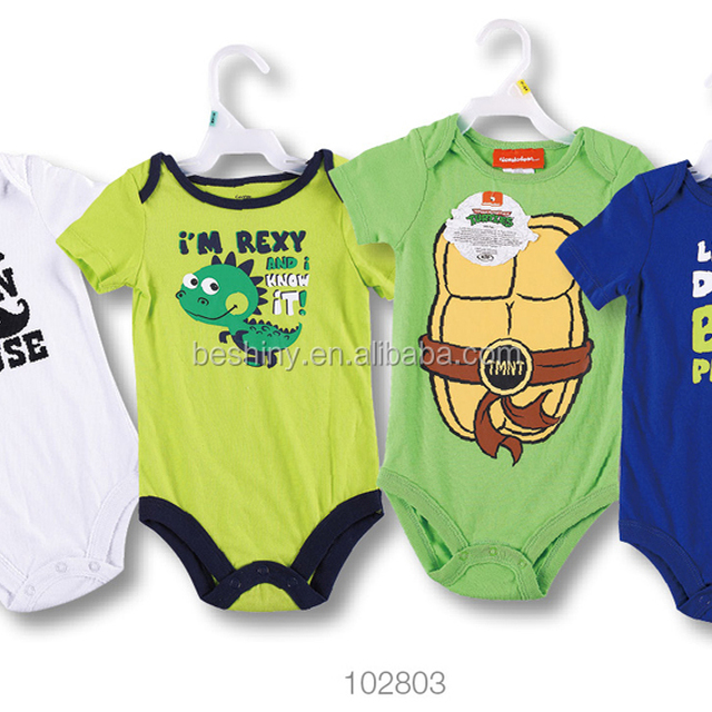 New arrival top quality single jersey baby romper kids cloths