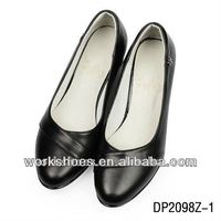DALIBAI DP2098 spike heel cuspidal top pigskin lining black women genuine leather shoes with a good quality