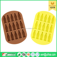 2016 Hot selling wholesale food and beverages tools brass tray Silicone ice cube tray