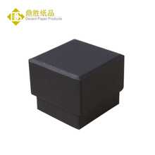Wholesale Ready Stock 5x5 Cardboard Black Paper Ring Boxes