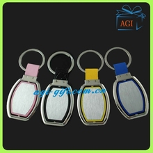 Colorful fashion spinner rotatable metal key chain