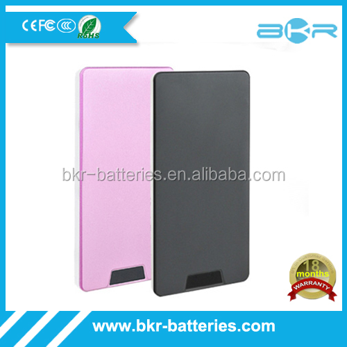 Wholesale high quality Metal Style electronic mini projects slim power bank for mobile phone.