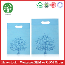 Promotional customized eco fabric tote pp non woven shopping bag without handle