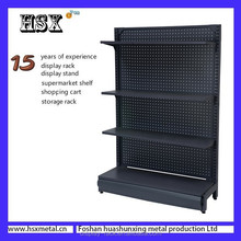 black wall stands metal supermarket display rack/shelves price for sale HSX-Z-250
