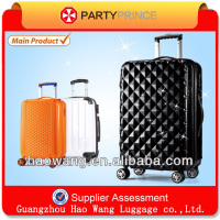 orange new fashion vision spinner wheels parts traveling trolley duffle bag