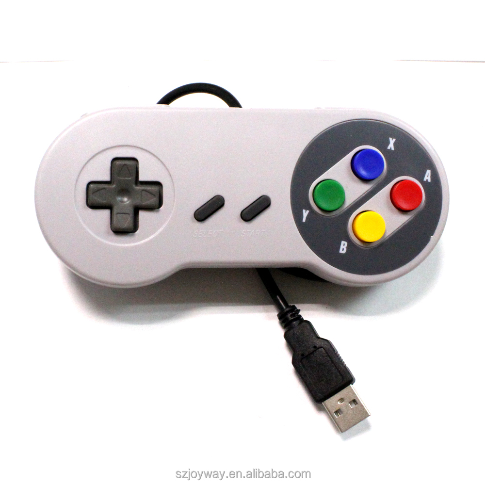 Wired USB Gaming Game Controller Joystick for Super Nintendo SNES PC Laptop