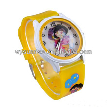 cheap customized personalized kids name brand transparent wrist watch for promotional