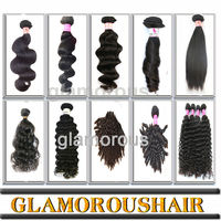 No Shedding Wholesale Brazilian Unprocessed Hair Weft Crochet Hair Ext