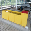Heat-protection rotomolding plastic cattle trough used in cold area