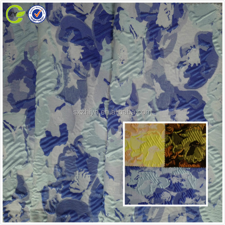 100% polyester yarn dyed woven jacquard fabric for autumn dress