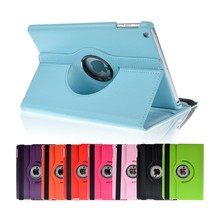 For iPad Air Tablet Case 360 Rotating Function Solid PU Leather Stand Fashion for Ipad 5 Folio Protective Cover Holster