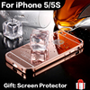 Hot Sale New Luxury Quality Mirror Case Ultra thin Aluminum Mobile Phone Cases For iPhone 5/5S Acrylic Back Cover Have In Stock