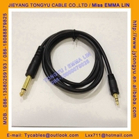 3.5mm Stereo Plug to 6.3 Mono Audio Cable P38 to Stereo