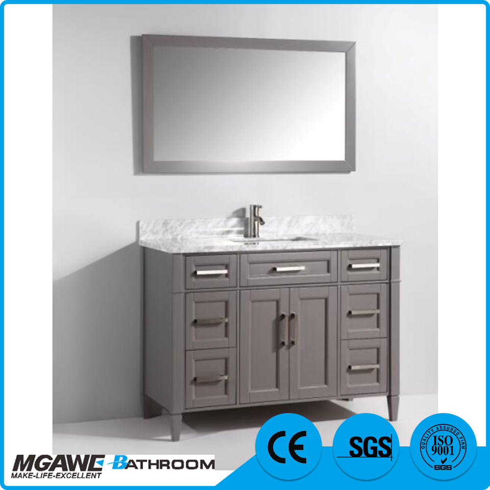 Low price of customized size bathroom vanity unit with marble top