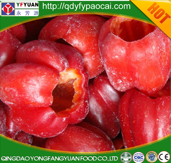 WHOLE MARKET PRICE IQF FROZEN RED BELL PEPPER FOR HOT SALE