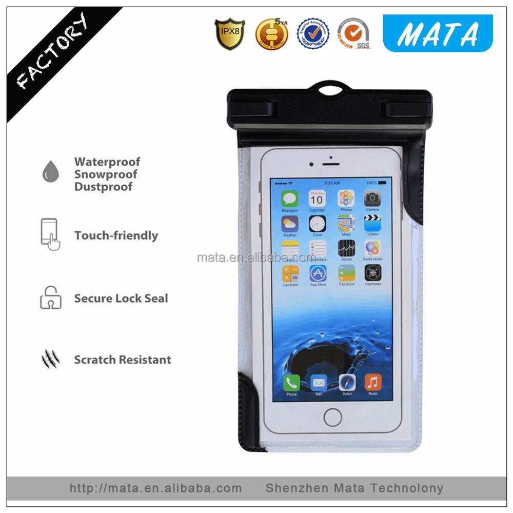 Customized IP68 Waterproof Case for Mobile Phone Waterproof Case with IPX8 Certificated (up to 5.5' inches)