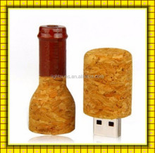 Factory wholesale Customized logo bottle wood u-disk pen usb flash 1GB 2GB 4GB 8GB 16GB 32GB