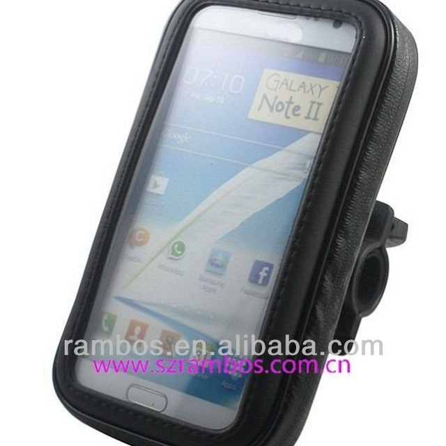 Bike Bicycle Waterproof Phone Case Bag Pouch Mount Holder For Samsung Galaxy Note II N7100