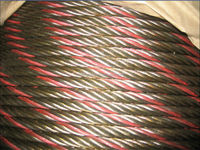 steel wire rope with red strand or blue strand
