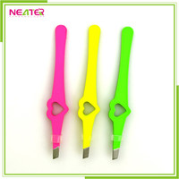 wholesale cute slant tip nail scissor eyebrow tweezers