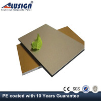 Alusign pe coating aluminium composite panel with 4mm 3mm 5mm thick for decorative interior wall
